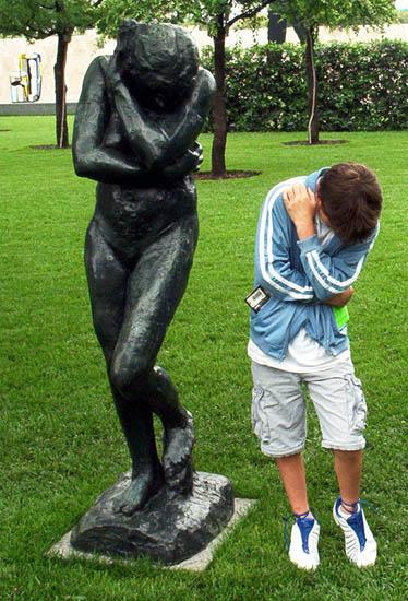 Eve, by Rodin, 2004