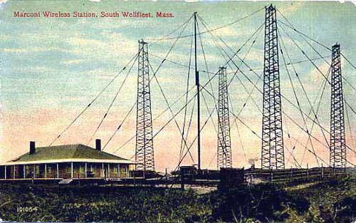 Marconi antennas at Wellfleet