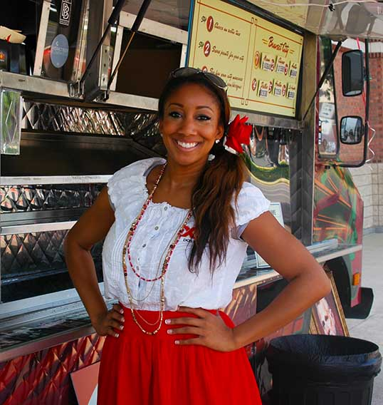 One of the Dos Equis Taco Hotesses