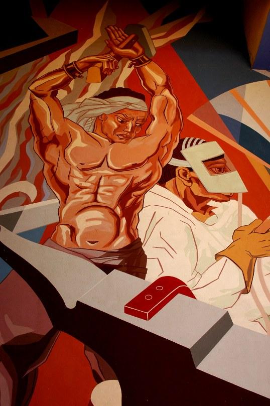 Art Deco mural from Fair Park in Dallas