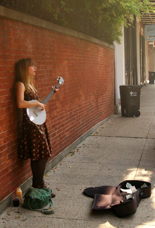 Banjo Player on Royal Street, French Quarter, New Orleans