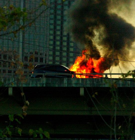 I-345 near downtown Dallas