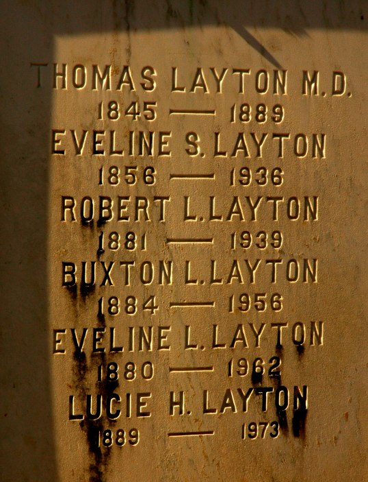 Layton family crypt.