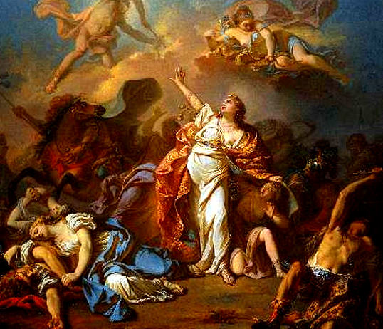 Jacques-Louis David, French, 1748-1825, Apollo and Diana Attacking the Children of Niobe, 1772