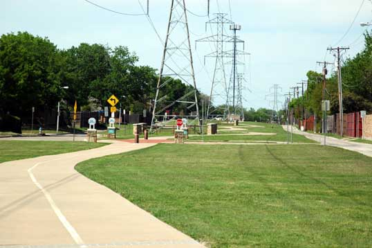 Owens Bike Trail under the power lines.