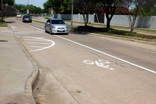 Bike Lanes on Custer Road
