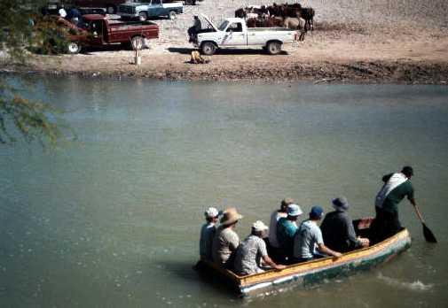 Crossing the Rio Grande in 2001