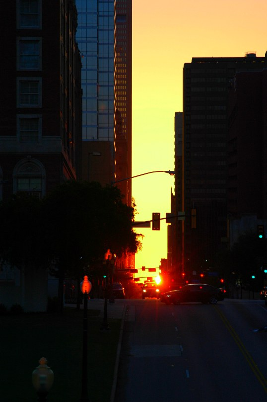 Morning Dallashenge from the Triple Underpass in Dealy Plaza.