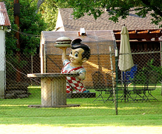 Big Boy in a Dallas Backyard