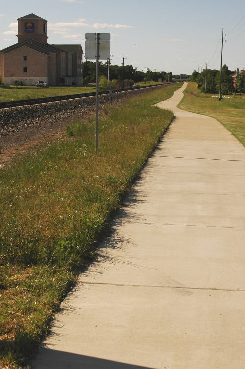 The start of the Denton Katy trail off of Swisher Road, in Lake Dallas.