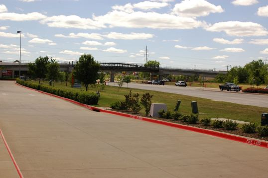 The pedestrian/bicycle bridge over 288 in Denton. It will be nice when it is finished.