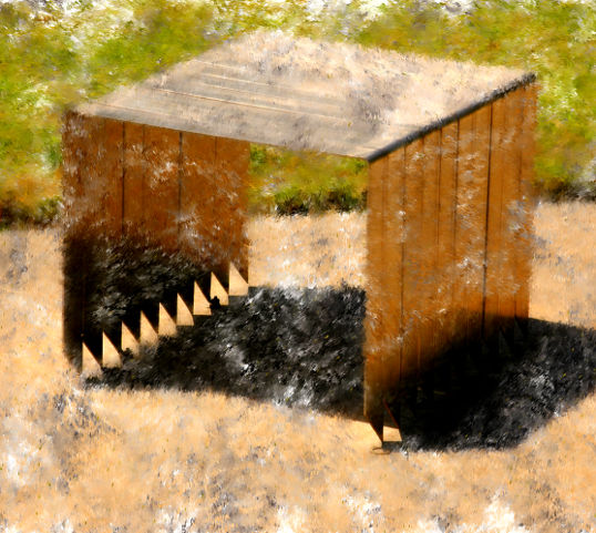 Staples, Paul Kittelson, photograph manipulated in Corel Painter