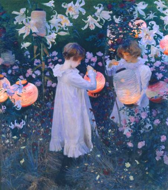 Carnation, Lily, Lily, Rose - by John Singer Sargent