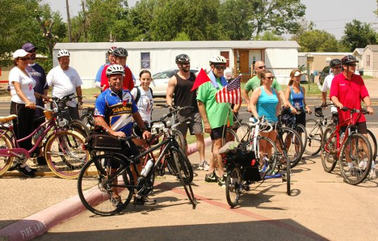 The start of the Bike Friendly Forney Ride