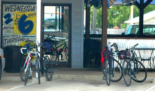 Bikes waiting for Catfish.