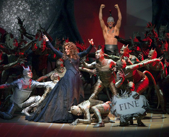 Renée Fleming in the finale of Armida at the Met.