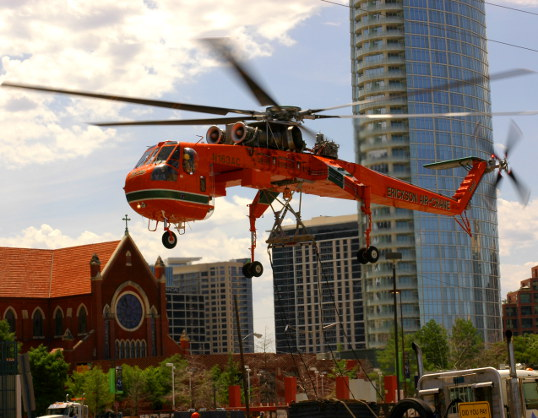 Erickson Air-Crane and the Dallas Skyline
