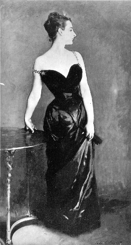 A photograph of the original painting of Madame X.