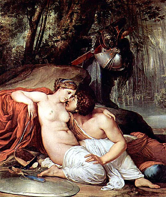 Rinaldo and Armida, by Francesco Hayez