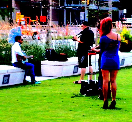 Filming a Mexican Music Video in Klyde Warren Park.