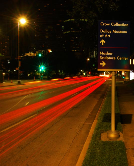 Time Exposure, Night, Downtown Dallas, Ross and Olive
