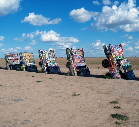 Cadillac Ranch, West of Amarillo, Texas