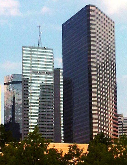 Three more skyscrapers from Klyde Warren Park, Dallas, Texas