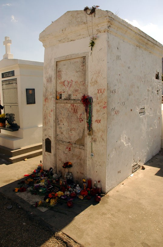 Marie Laveau's Tomb, the XXX marks are for people that want their wishes granted.