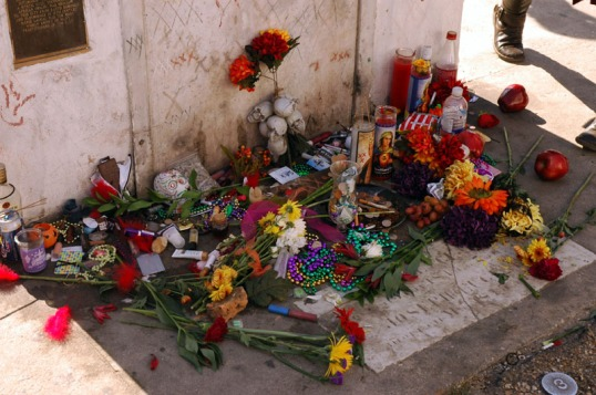 Halloween Offerings at Marie Laveau's tomb. New Orleans.