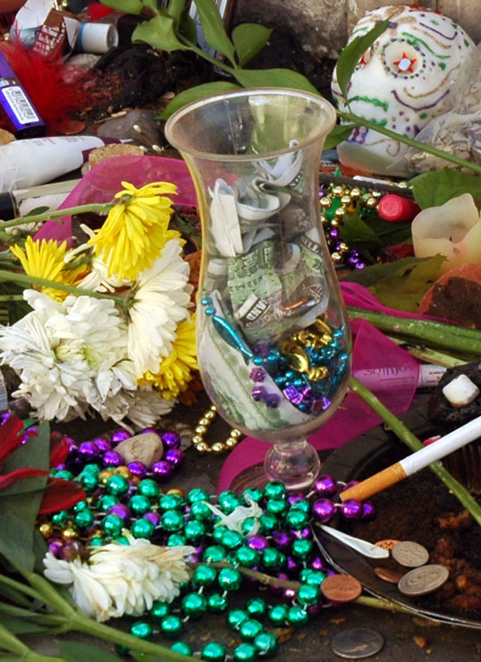 Offerings to Marie Laveau