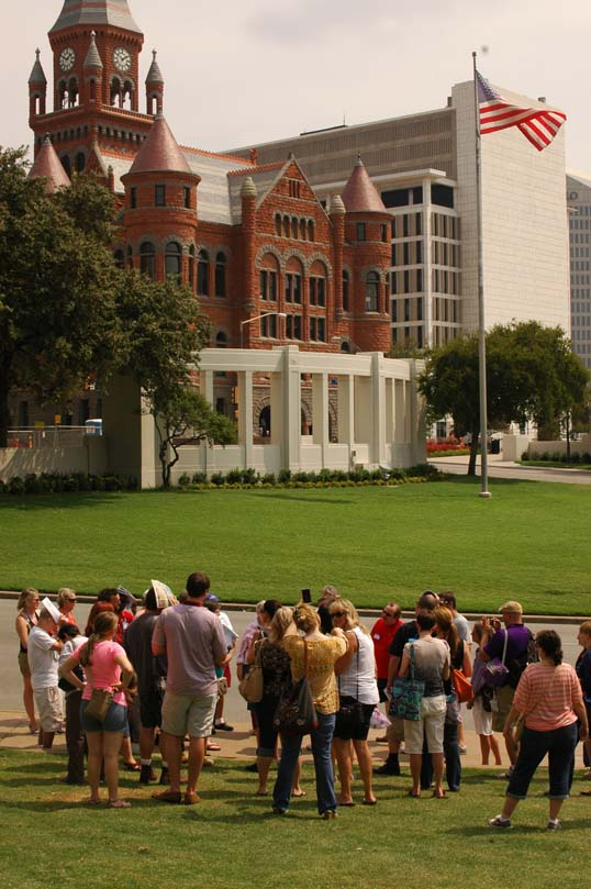 Our tour in Dealey Plaza.