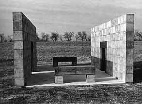 A photo from The Dallas Art Revue of A Place to Gather when it was first installed.