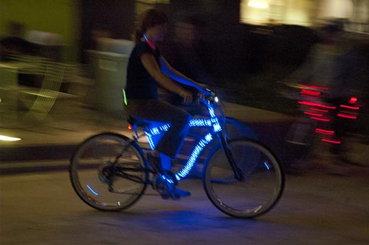Lighted Bicycles at Aurora Ciclovia