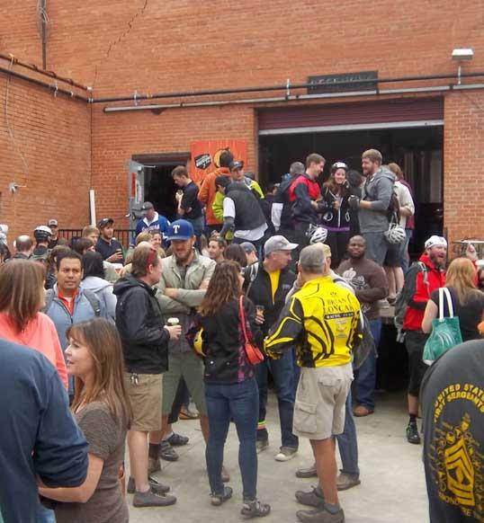 The crowd at Deep Ellum Brewing Company, Dallas, Texas