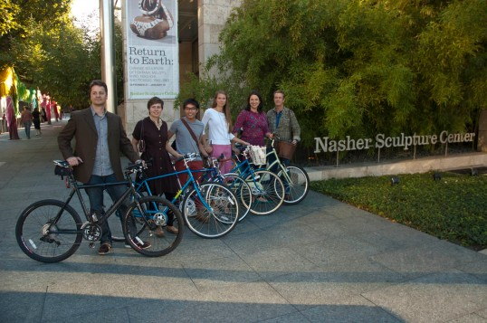 Cyclists at the Nasher (click to enlarge)