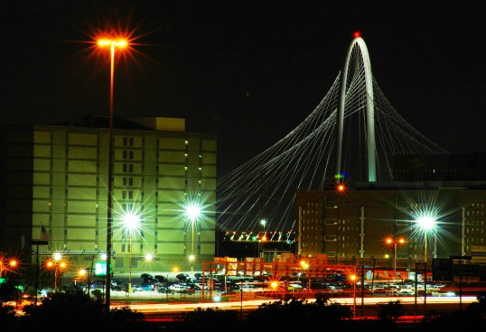 Dallas Jail complex with the Margaret Hunt Hill bridge in the background. (click to enlarge)