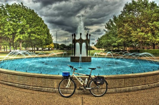 The fountain in back of the Richardson Library. (click to enlarge)