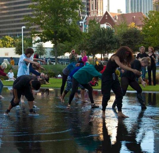Dancing at the Dallas String Quartet, Patio Sessions, Arts District, Dallas, Texa