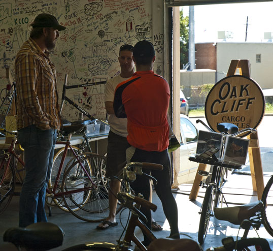 The good folks from Oak Cliff Cargo Bicycles