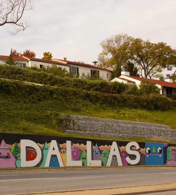 Dallas contemporary street art bike tour bill chance for Dallas mural artists