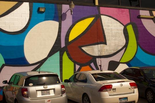 JMR mural at the Dallas Contemporary.