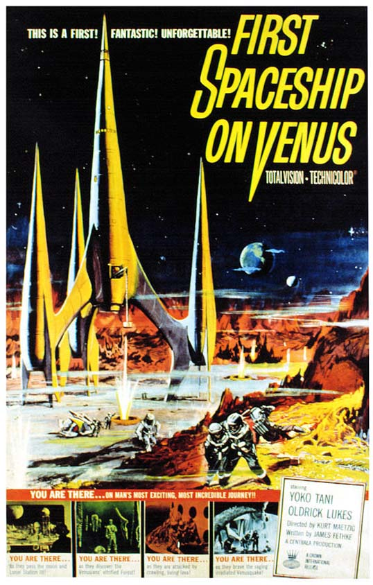 Movie Poster for First Spaceship on Venus (Silent Star) - I remember the excitement of seeing this poster, even though I was probably six years old at the time.