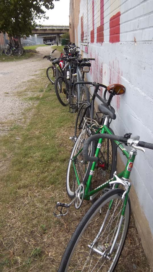 Bikes lined up at Deep Ellum Brewing