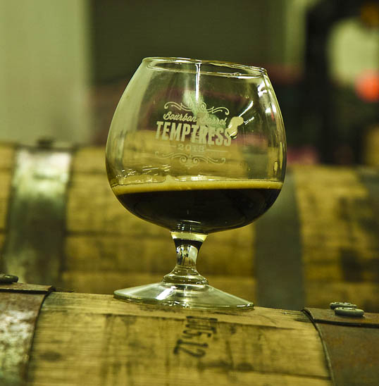 The Bourbon Barrel Temptress, on a Bourbon Barrel