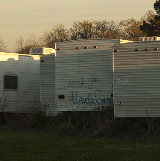 Thank You Uncle Sam, FEMA trailers, Opelousas, Louisiana