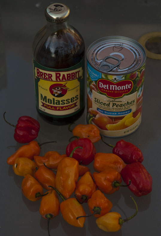 Habaneros and other main ingredients