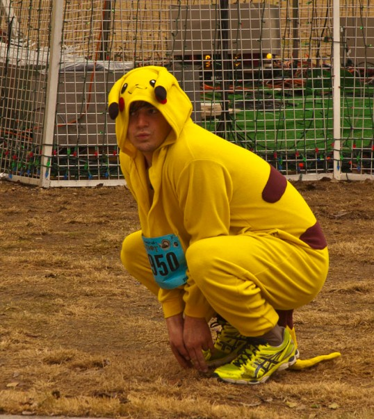 Pikachu, goofing around.