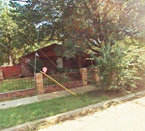 From Google Maps Streetview - what the house looked like before the demolition.