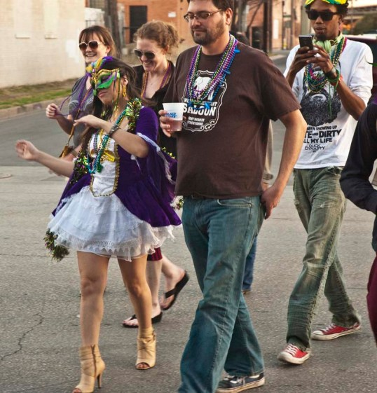 First Annual Deep Ellum Mardi Gras Parade (click to enlarge)