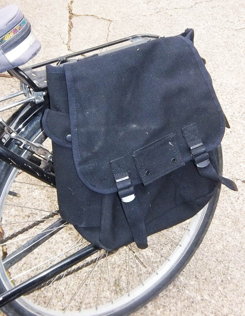 The musette bag on my commuter bike.